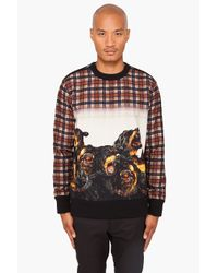 Givenchy | Brown Plaid Rottweiler Sweater for Men | Lyst