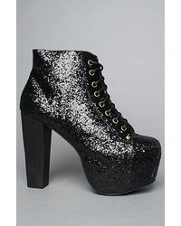 Jeffrey Campbell | The Lita Shoe in Black Glitter | Lyst