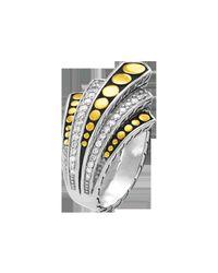 John Hardy - Metallic Dot Deco Gold & Silver Diamond Pavé - Lyst
