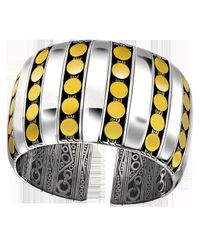 John Hardy | Metallic Dot 18k & Silver Pave Diamond Cuff Bracelet | Lyst