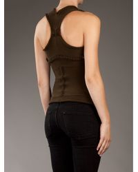 Mark Fast - Brown Knitted Corset - Lyst