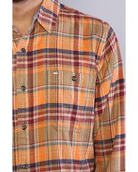 Obey | Orange Cedar Creek Plaid Flannel for Men | Lyst