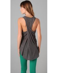 Rag & Bone | Gray Twist Back Tank | Lyst