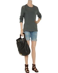 T By Alexander Wang - Gray Rolled-neck Cotton-knit Sweater - Lyst