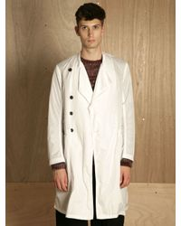Dries Van Noten | White Mens Royani Coat for Men | Lyst
