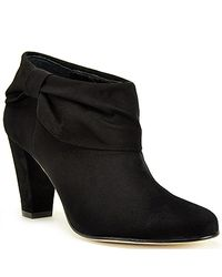 Kate Spade | Bison - Black Suede Bootie | Lyst