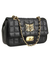 Love Moschino | Black Quilted shoulder bag | Lyst