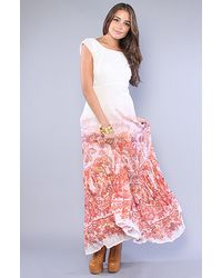 Free People | Pink The Placed Paisley Dress | Lyst