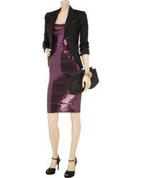 Hervé Léger - Purple Sequined Bandage Dress - Lyst