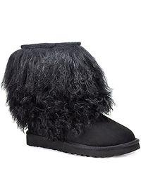 UGG | Short Sheepskin Cuff - Black Sheepskin Bootie | Lyst