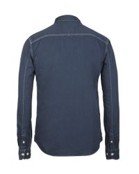 AllSaints - Blue Bowery L/s Shirt for Men - Lyst