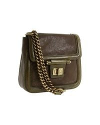 Olivia Harris - Brown Toggle Hinge Small Shoulder Crossbody - Lyst