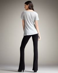 7 For All Mankind | Kaylie Double-knit Slim Boot-cut Pants, Black | Lyst