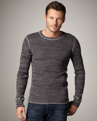 7 For All Mankind | Gray Space-dye Sweater for Men | Lyst