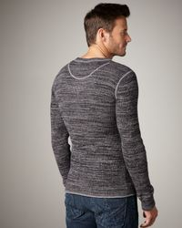 7 For All Mankind - Gray Space-dye Sweater for Men - Lyst