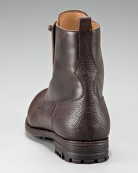 Alexander McQueen - Black Zip Front Boot for Men - Lyst
