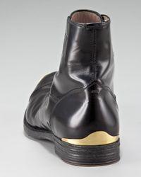 Alexander McQueen Black Metal-toe Boot for men
