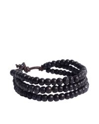 ASOS Collection | Asos Triple Beaded Black Bracelet for Men | Lyst