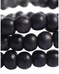ASOS Collection - Asos Triple Beaded Black Bracelet for Men - Lyst