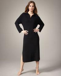 Neiman Marcus Cashmere Lounge Dress, Black