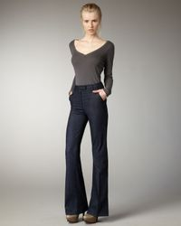 Current/Elliott | Black Neat Meriweather High-rise Trousers | Lyst