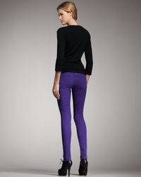 Joe's Jeans - Chelsea Skinny Pants, Purple - Lyst