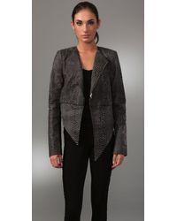 Kimberly Ovitz - Gray Balthazzar Leather Jacket - Lyst