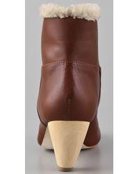 Loeffler Randall | Brown Kiva Shearling Bootie | Lyst