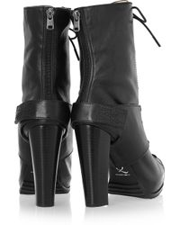 McQ - Black Lace-up Leather Ankle Boots - Lyst