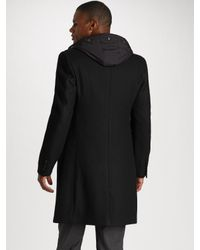 Michael Kors | Black Crombie Coat for Men | Lyst