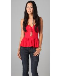 Parker | Red Strapless Top | Lyst
