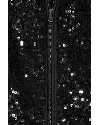 Philosophy di Alberta Ferretti | Black Sequin-embellished Wool-blend Jacket | Lyst