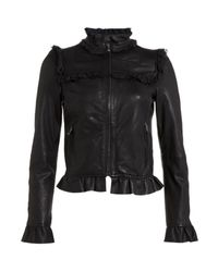 RED Valentino | Black Leather Jacket | Lyst