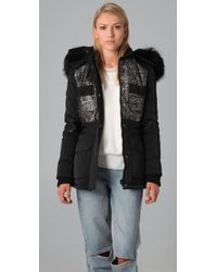 Alexander Wang | Black Hybrid Tweed Ski Jacket | Lyst