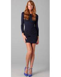 Alice + Olivia | Blue Long Sleeve Goddess Dress | Lyst
