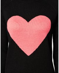 ASOS Collection - Black Asos Angora Jumper with Heart - Lyst