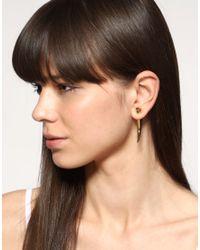 ASOS Collection - Metallic Asos Long Metal Spike Earrings - Lyst