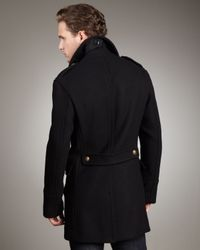 Burberry Brit - Black Dome-button Peacoat for Men - Lyst