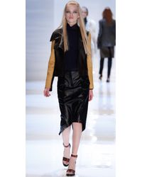 Derek Lam - Black Utility Leather Skirt - Lyst