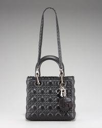 Dior - Black Lady Tote Medium - Lyst