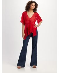 Elizabeth and James | Red Adeline Blouse | Lyst