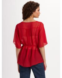 Elizabeth and James - Red Adeline Blouse - Lyst