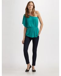 Ella Moss | Blue One-shoulder Top | Lyst