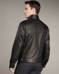 Ermenegildo Zegna - Black Leather Jacket for Men - Lyst