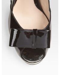 Fendi - Black Deco Bow Trim Pump - Lyst