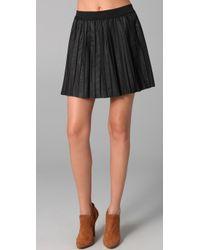 Free People | Black The Vegan Leather Pleated Skirt | Lyst