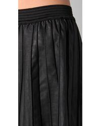 Free People - Black The Vegan Leather Pleated Skirt - Lyst