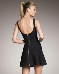 Hervé Léger | Black Runway Flare-skirt Bandage Dress | Lyst