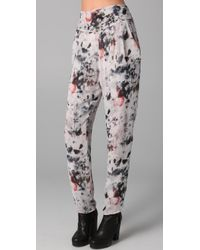 IRO | Blue Frida Print Pants | Lyst