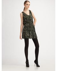 Joie | Green Ossie Silk Floral-print Dress | Lyst